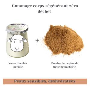 Gommage peau régénérée zéro déchet